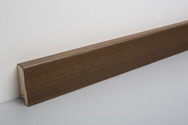 Sockelleiste furniert MKF 50 Räuchereiche lackiert gebeizt 18x50x2500mm