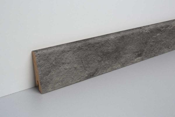 Laminat Sockelleiste foliert mit MDF-Kern Schiefer schwarz 17x60x2400mm