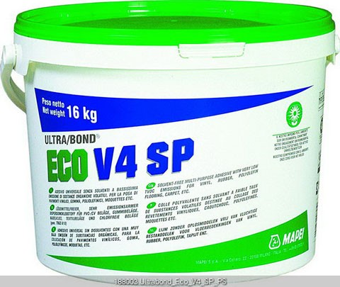 Mapei Ultrabond ECO V4 SP Dispersionskleber 16 kg, Verklebung von PVC/Vinylbeläge