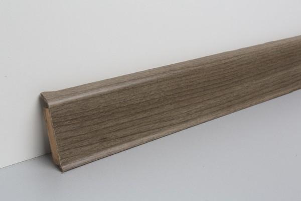 Kernsockelleiste Vinyl MSV 60 Eiche sägerau dunkel 13x60x2500mm