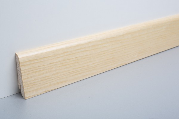 Sockelleiste furniert MHF 65 Esche lackiert 20x60x2500mm