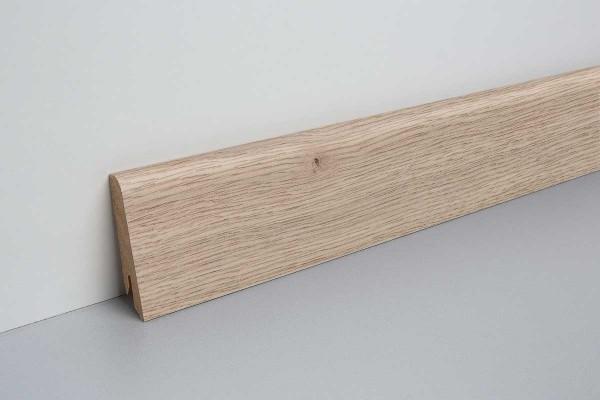 Laminat Sockelleiste foliert mit MDF-Kern Audley Eiche hell 17x60x2400mm