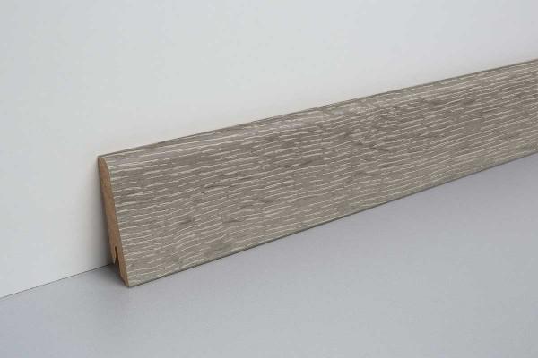 Laminat Sockelleiste foliert mit MDF-Kern Waltham Eiche grau 17x60x2400mm
