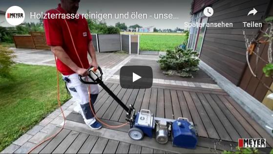 Video: Holzterrasse reinigen und ölen