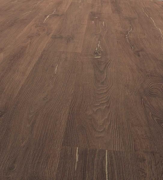 EGGER PRO Comfort Long Korkboden Landhausdiele 1-Stab Alba Eiche dunkel EPC012, lackiert