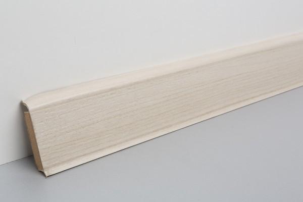 Kernsockelleiste Vinyl MSV 60 Pinie weiß 13x60x2500mm