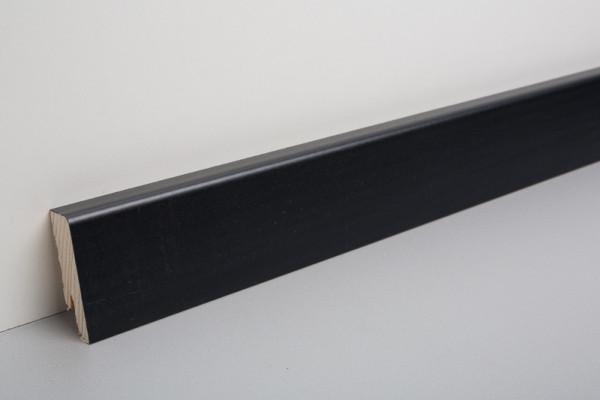 Sockelleiste furniert MKF 50, schwarz deckend lackiert 18x50x2500mm