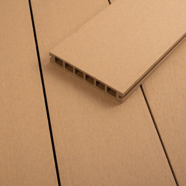 FANO WPC 25 Terrassendiele Hohlkammer Bernstein, gebürstet