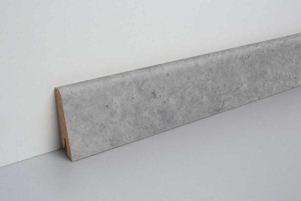 Laminat Sockelleiste foliert mit MDF-Kern Fontia Beton grau 17x60x2400mm