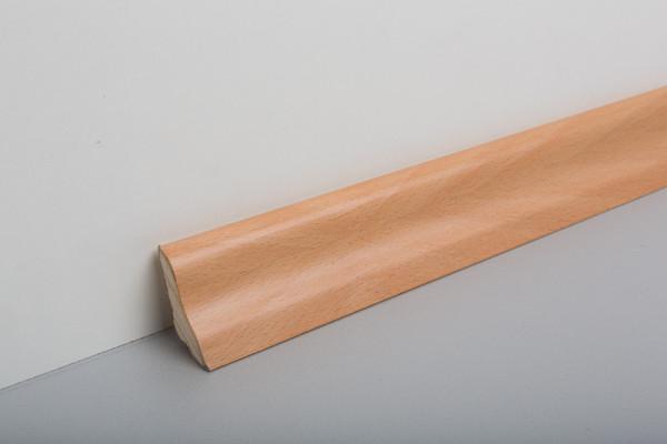 Sockelleiste furniert MGF 40 Buche gedämpft lackiert 19x39x2500mm