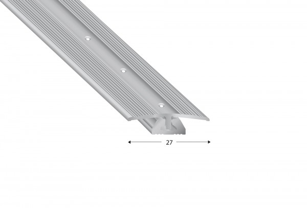 Bodenprofil CAVUM Übergang 4-7 mm, 2-teilig, silberfarben