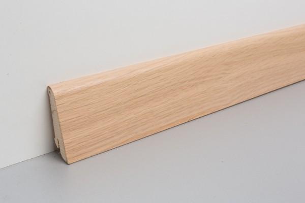 Bodenleiste furniert MHF 65 Eiche weiß-geölt