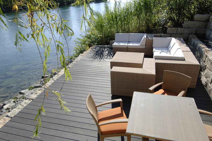 Reinigung von WPC-Terrassen