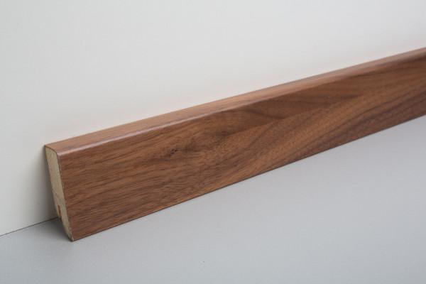 Sockelleiste furniert MKF 50 Nussbaum amerikanisch lackiert 18x50x2500mm