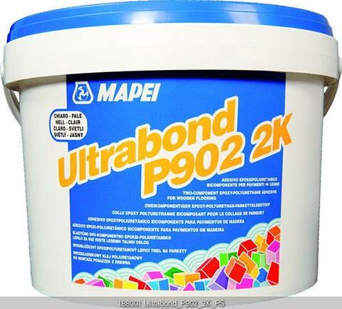Mapei Ultrabond P902 2K-PU-Kleber 10 kg, Verklebung von Mehrschicht- und Massivparkett, Kombigebinde
