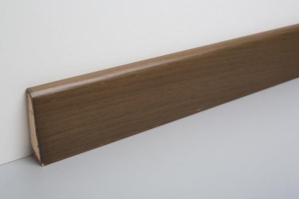 Sockelleiste furniert MHF 65 Räuchereiche, Eichenfurnier gebeizt, lackiert 20x60x2500mm