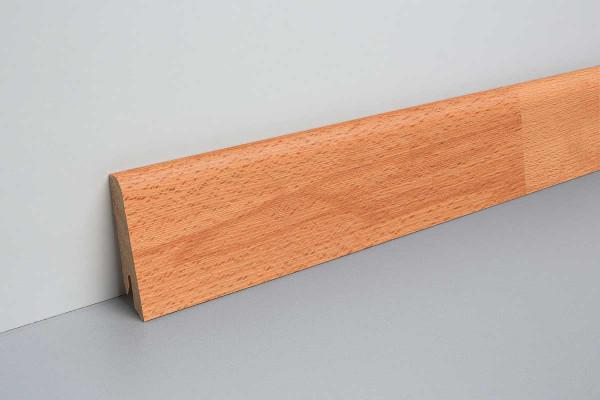 Laminat Sockelleiste foliert mit MDF-Kern Dobbin Buche 17x60x2400mm