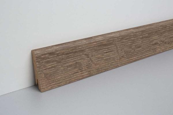 Laminat Sockelleiste foliert mit MDF-Kern Waltham Eiche braun 17x60x2400mm