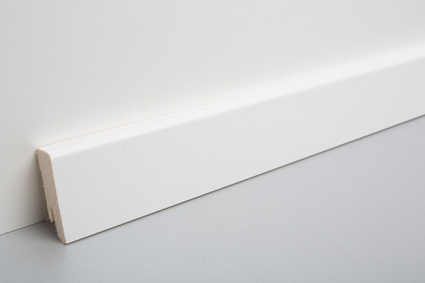 Sockelleiste furniert MKF 50, weiß deckend lackiert, RAL9003, 18x50x2500mm