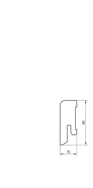 Sockelleiste furniert MKF 40 Eiche geölt 16x40x2500mm