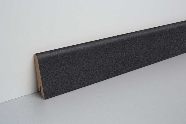 Laminat Sockelleiste foliert mit MDF-Kern Santino Stein dunkel 17x60x2400mm