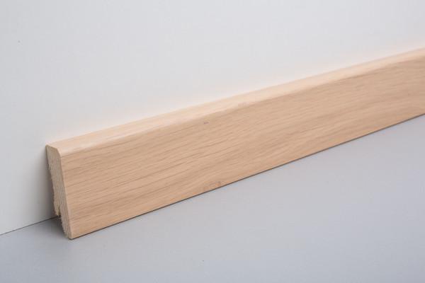 Sockelleiste furniert MKF 50 Eiche weiß geölt 18x50x2500mm