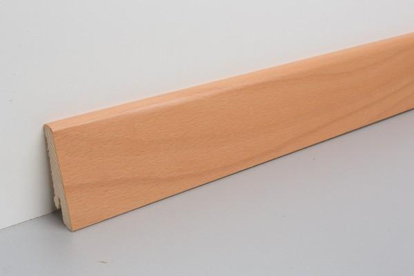 Sockkelleiste furniert MHF 65 Buche gedämpft lackiert 20x60x2500mm