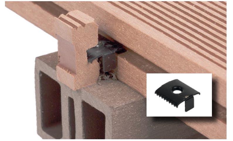 Bremsclip-Einsatz-WPC-Terrassendielen