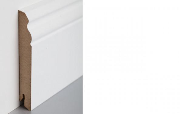 Sockelleiste foliert MDF 120 weiß überstreichbar 17x120x2400mm