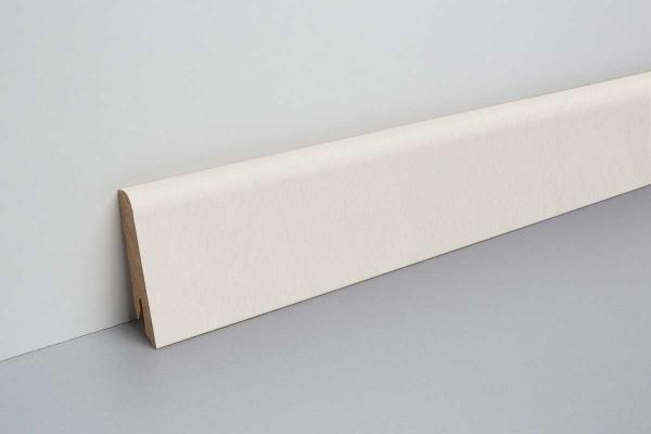 Laminat Sockelleiste foliert mit MDF-Kern Santino Stein hell 17x60x2400mm