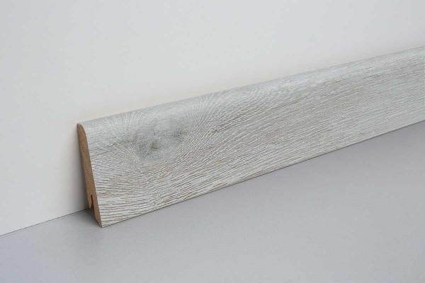 Laminat Sockelleiste foliert mit MDF-Kern Villanger Eiche bunt 17x60x2400mm
