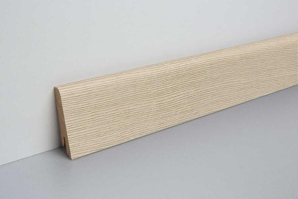 Laminat Sockelleiste foliert mit MDF-Kern Tegern Esche 17x60x2400mm