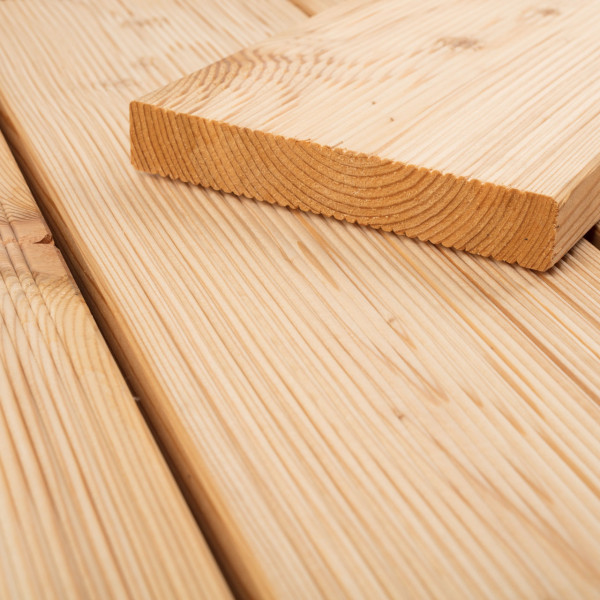 FANO Holz Terrassendiele Lärche sibirisch 24 mm, feingerillt