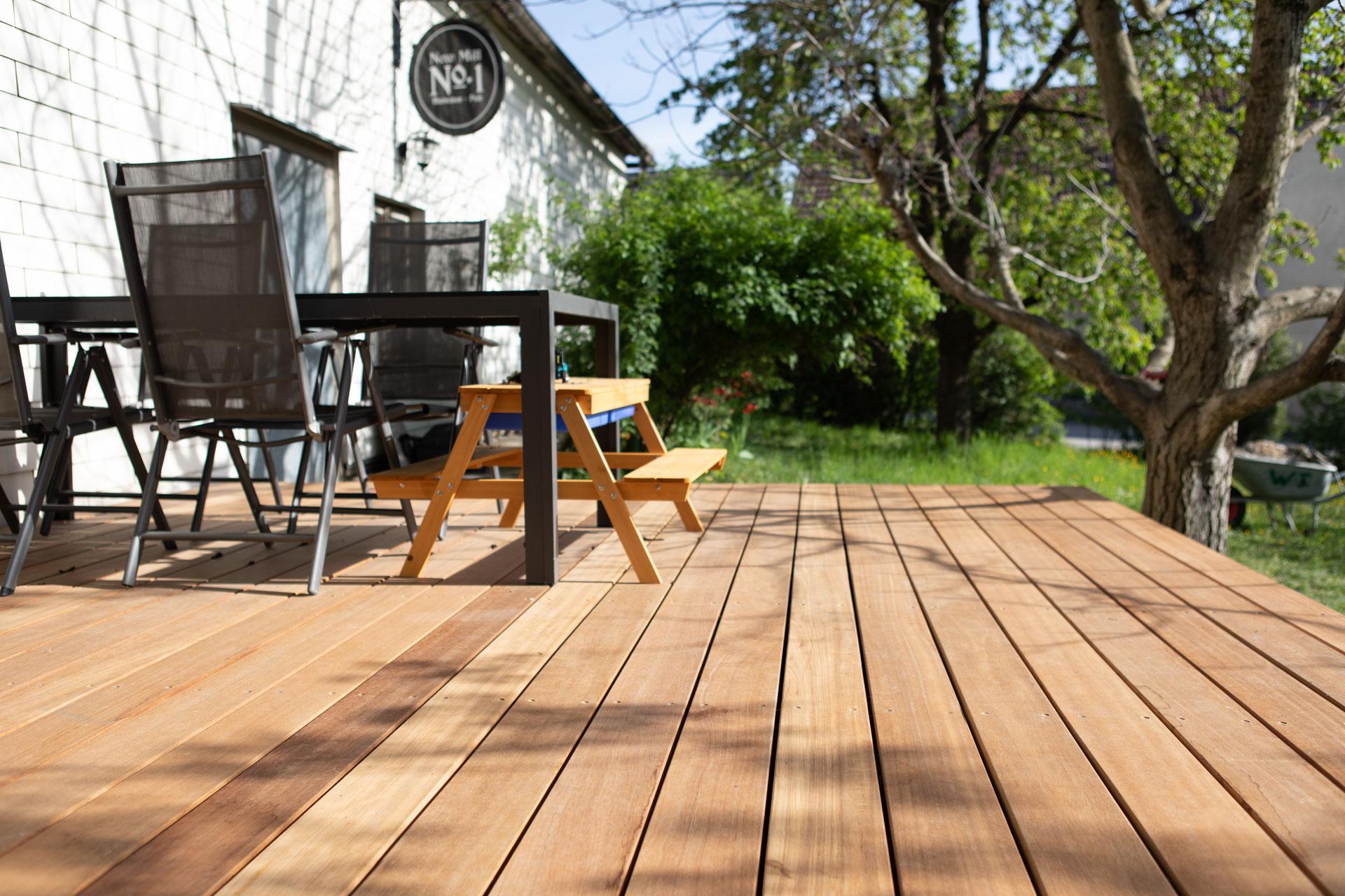FANO Holz Terrassendiele Bangkirai, glatt 20 bis 20 mm