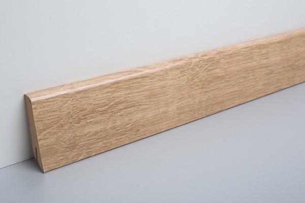 Bodenleiste foliert Denver Eiche 6 cm, L266