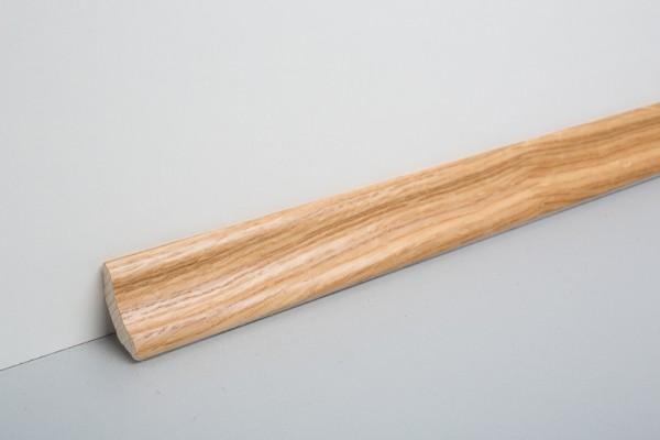 Bodenleiste furniert MHF 28 Eiche lackiert, mit Dämmstreifen