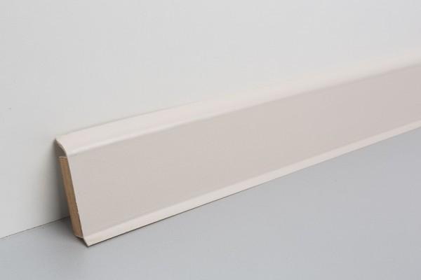 Kernsockelleiste Vinyl MSV 60 creme unifarben 13x60x2500mm