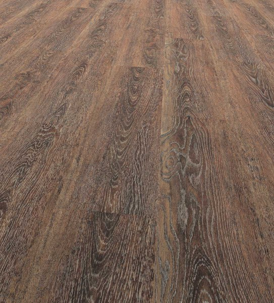 Vinfloors Plank 25 Klebe-Vinylboden Landhausdiele 1-Stab Eiche Dark