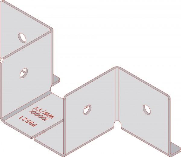 Twinson Eckverbinder aus Edelstahl zum Rahmenbau