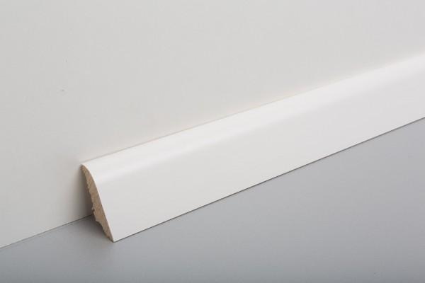 Bodenleiste furniert MHF 45, Weiß deckend lackiert, RAL9003
