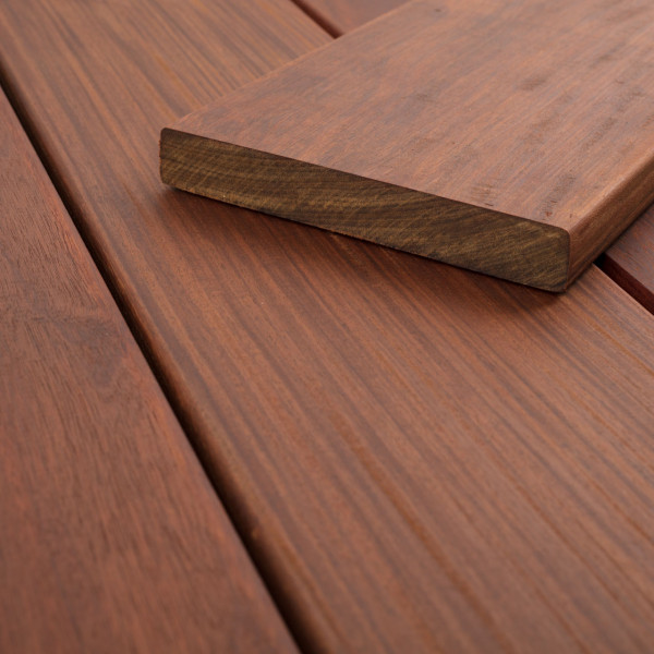 FANO Holz Terrassendiele Ipe, Teak-farbgeoelt, glatt 3050 bis 5790 mm